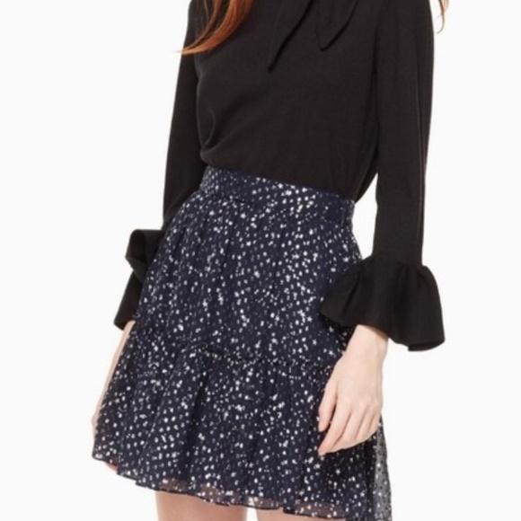 kate spade Dresses & Skirts - KATE SPADE Night Sky Silk Lurex Dot Skirt
